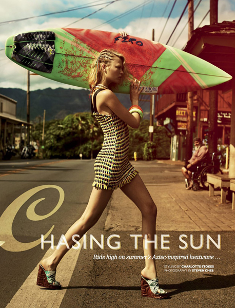Chasing the Sun for Cosmopolitan